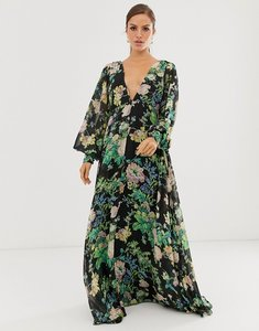 Read more about Asos edition blouson sleeve maxi dress in floral print