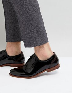 Read more about Ted baker anice patent oxford brogue shoes - black