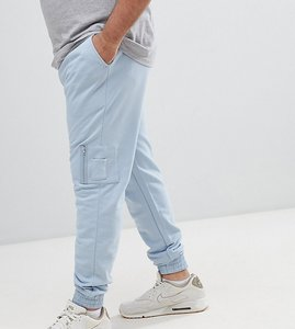Read more about Asos design plus skinny joggers with ma1 pocket in light blue - blue fog