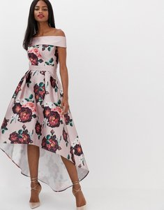 Read more about Chi chi london extreme bandeau midi dress in dusky pink floral
