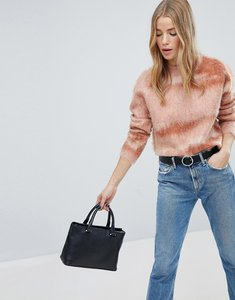 Read more about Only high neck brushed textured jumper - pink