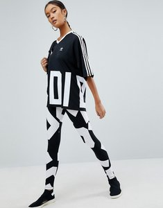 Read more about Adidas originals bold age graphic print leggings - black