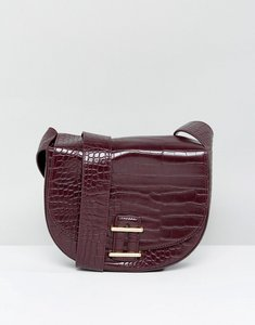 Read more about French connection mock croc bag - chocolate chilli