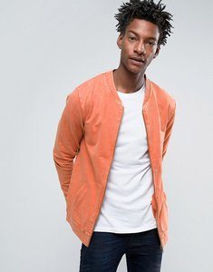 Read more about Troy bomber sweat in washed rust - tan