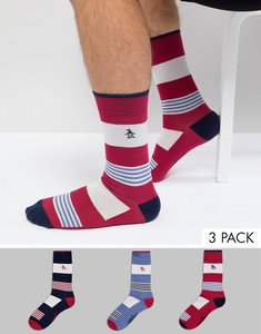 Read more about Original penguin 3 pack patterned socks - multi