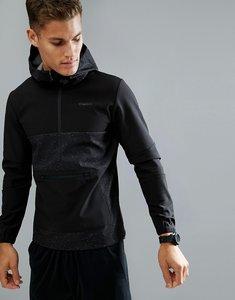 Read more about Jack jones tech 1 2 zip sweat hoodie in tech dry fabric - black