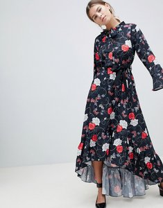 Read more about Uttam boutique floral midi dress with flute sleeve - pink