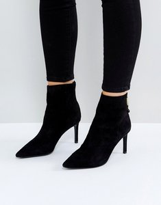 Read more about Dune london oralia suede pointed heeled boots - black