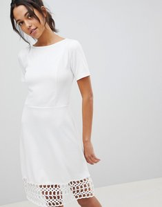 Read more about Y a s crochet hem dress - white