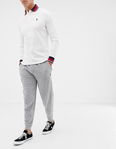 Read more about Polo ralph lauren velour cuffed joggers with player logo in grey marl