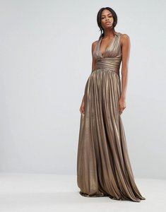 Read more about Forever unique pleated maxi dress - bronze