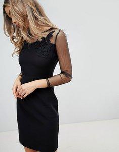 Read more about Zibi london mesh sleeve bodycon dress - black