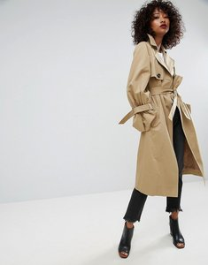 Read more about Asos mac with statement sleeve - stone