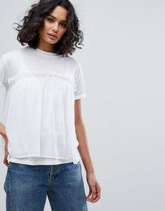 Read more about Boss casual georgette layer t-shirt - white
