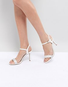 Read more about Coast strappy glitter heel shoes - ivory