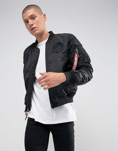 Read more about Alpha industries ma-1 vf nasa insulated bomber jacket in all black - all black