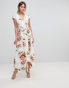 Read more about Ax paris floral wrap dress - cream