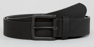 Read more about Asos plus wide belt in faux leather with black coated buckle - black