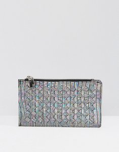 Read more about French connection irridescent weave zip purse - iridescent