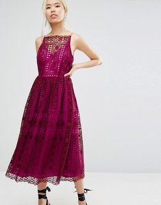 Read more about Asos lace prom dress - burgundy