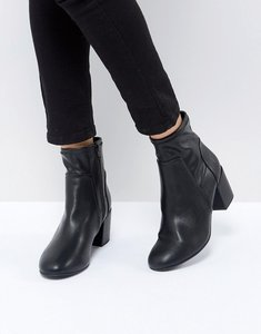 Read more about Miss kg mid heel sock boot - black soft pu