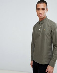 Read more about Farah brewer overhead shirt in green - green