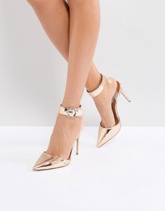 Read more about Steve madden pointed heeled shoes - rose gold