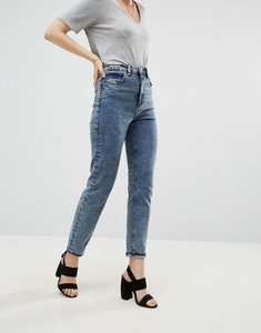Read more about Asos farleigh high waist slim mom jeans in dixie light acid wash - dixie acid wash