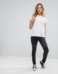 Read more about Glamorous skinny biker trousers in faux leather - black pu