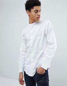Read more about Threadbare cotton linen grandad long sleeve shirt - white