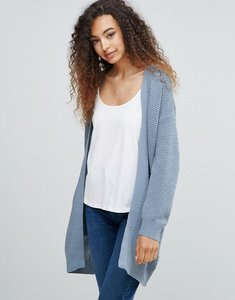 Read more about Ichi slouchy cardigan - dusty blue
