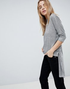 Read more about Girls on film step hem jumper with tie sides - silver