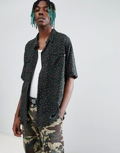 Read more about Billionaire boys club leopard print shirt in green - green