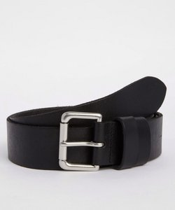 Read more about Polo ralph lauren patch logo leather belt - black