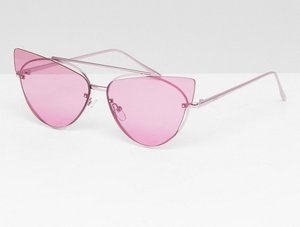Read more about Asos design cat eye sunglasses with laid on extreme lens - lilac