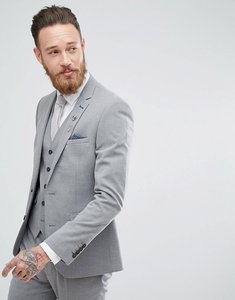 Read more about Harry brown plain stretch skinny suit jacket - grey