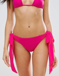 Read more about Prettylittlething tie detail bikini brief - pink