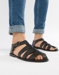 Read more about Asos design fisherman sandals in black - black