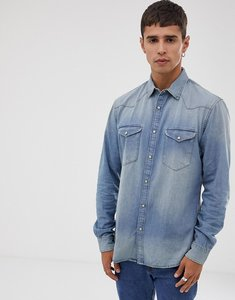 Read more about Celio slim fit western denim shirt in mid blue wash