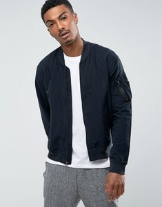 Read more about Polo ralph lauren cotton bomber jacket in black - black