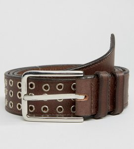 Read more about Systvm studded leather belt - brown