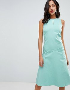 Read more about Closet london midi shift dress - green