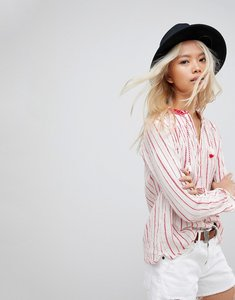 Read more about Maision scotch striped tassel blouse - 19 combo c