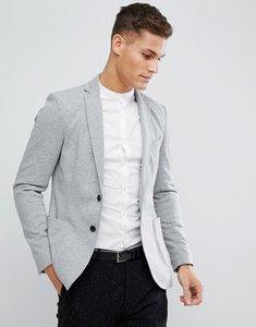 Read more about Stradivarius jersey blazer in grey - grey