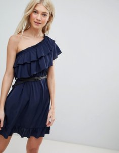 Read more about Vero moda one shoulder ruffle dress - navy