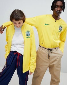 Read more about Nike football brazil full zip track jacket in yellow 893584-749 - yellow