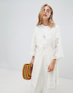 Read more about Qed london crochet cover up - stone