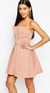 Read more about Aq aq bandeau prom mini dress - blush peach