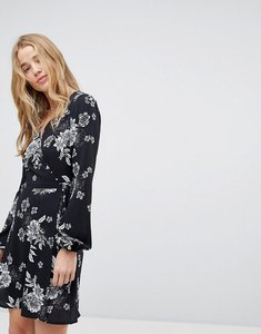 Read more about Miss selfridge floral wrap dress - print