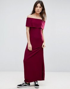 Read more about Nytt off the shoulder maxi dress - burgundy